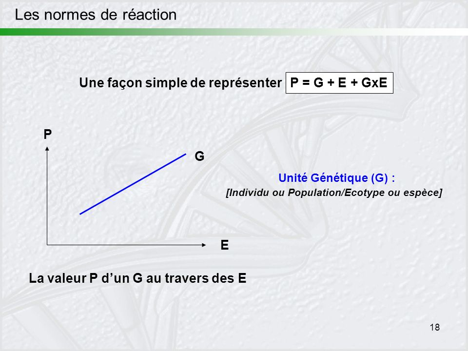 [Individu ou Population/Ecotype ou espèce]